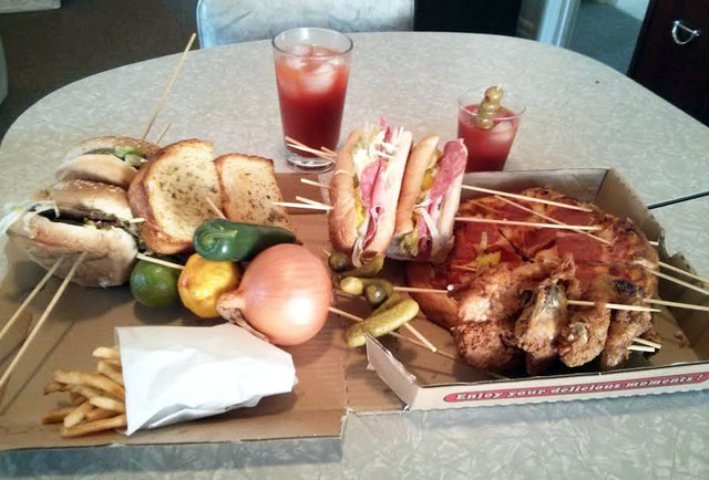 This Bloody Mary has a footlong sub, an entire pizza, and your envy
