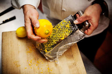 grate lemon with