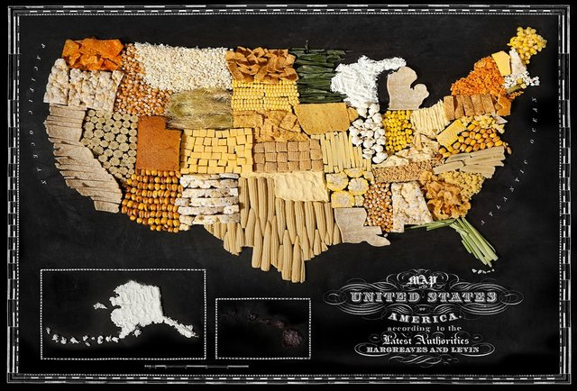 11 delicious maps made from iconic national foods
