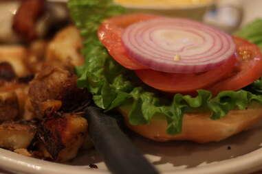 Burger at Bagel Etc.