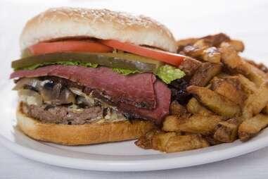 The burger at The Main