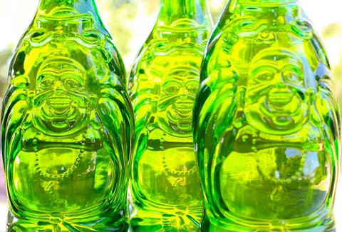 Lucky Buddha beer bottles