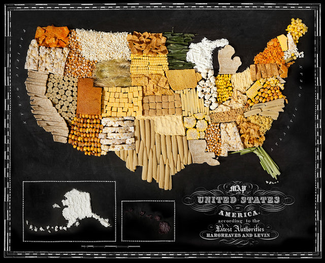 USA food map