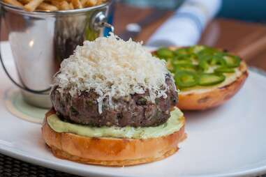 The Chase Fish & Oyster burger
