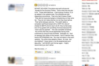 Unfair Bad Yelp Reviews