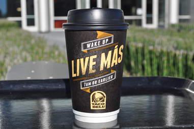taco bell breakfast coffee
