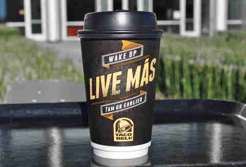 taco bell breakfast coffee