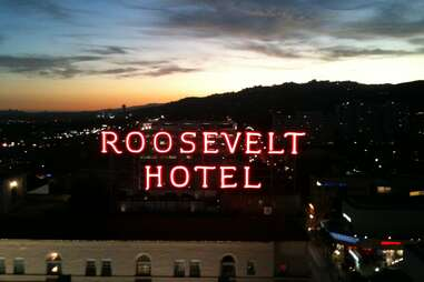 Roosevelt Hotel sign