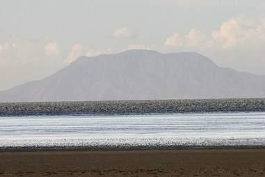Lake turned to stone