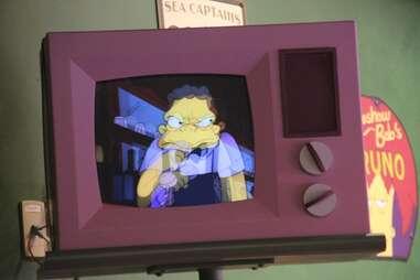 TV at Moe's Tavern at Universal Studios Orlando