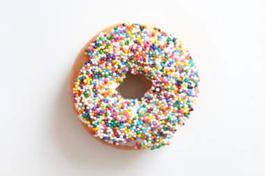 Vanilla Sprinkle donut