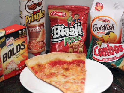 pizza-flavored snacks