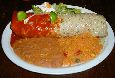 Chimichanga at El Charro Café