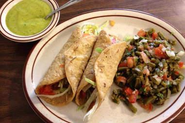 Tacos at Mitla Cafe