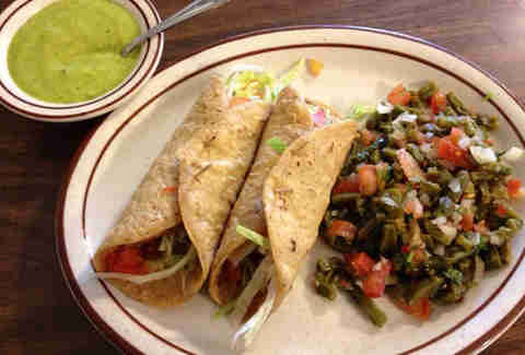 Tacos at Mitla Cafe
