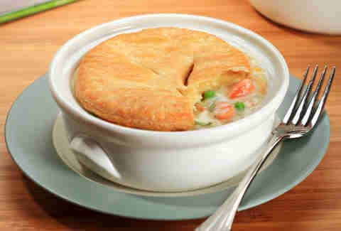 Chicken pot pie at The Walnut Room