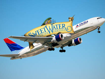 Delta plane with SweetWater logo