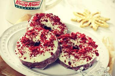 Krispy Kreme red velvet donuts