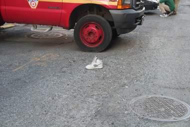 A lone shoe