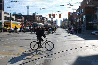 Cyclist in Toronto
