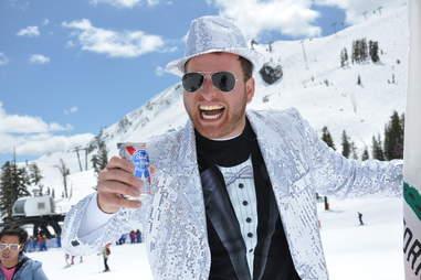 Beer snow guy