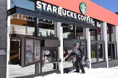 Ski-in Starbucks
