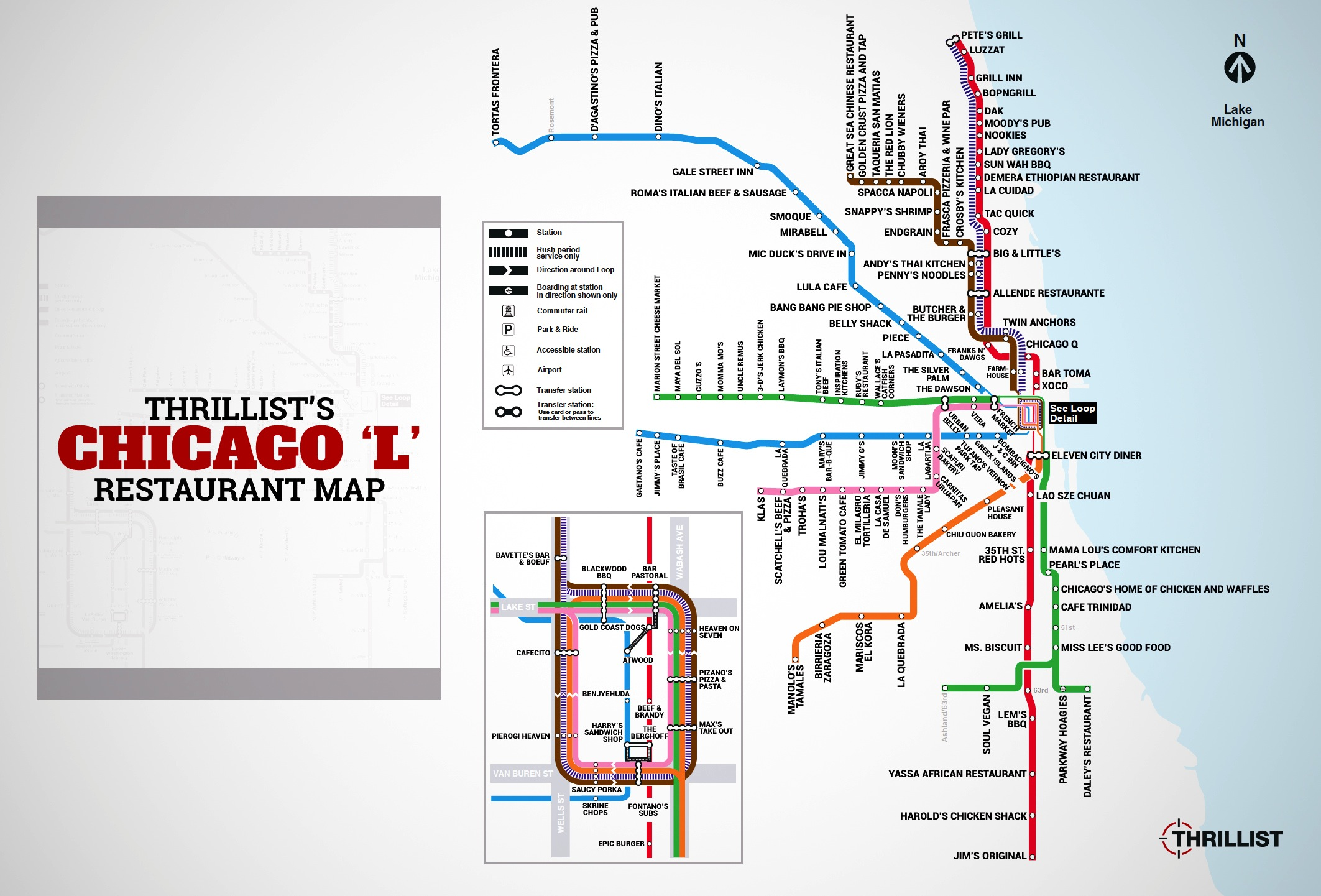 Chicago El Map Chicago Best Restaurants   CTA L Stop   Thrillist Chicago El Map
