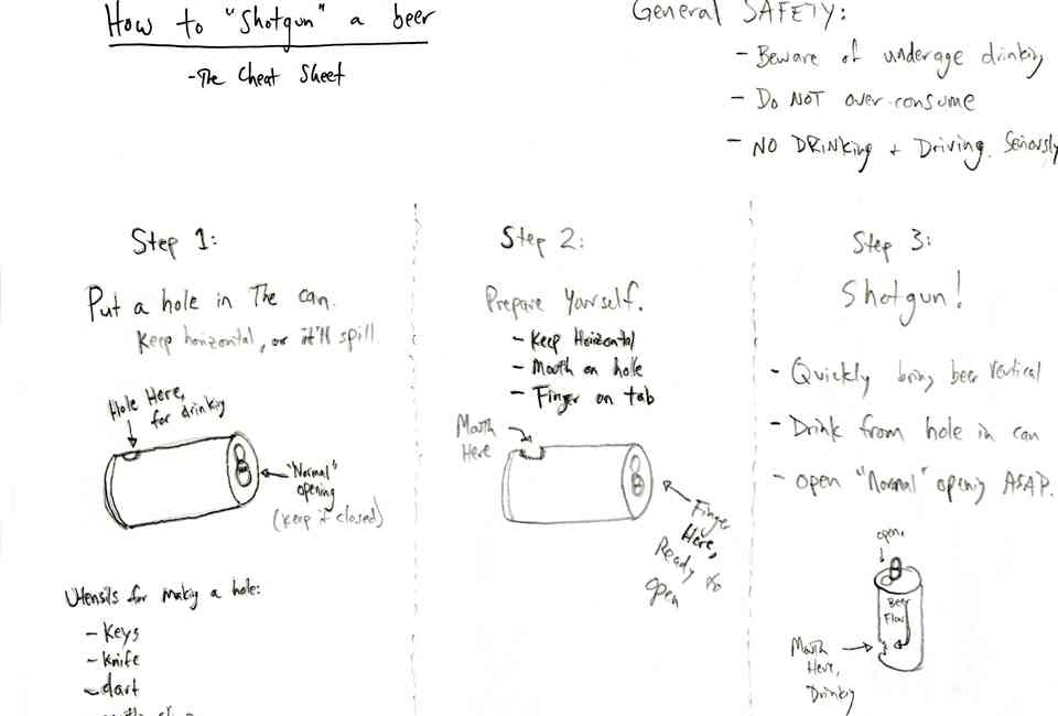 How to Shotgun a Beer, as Explained by College Bros - Thrillist
