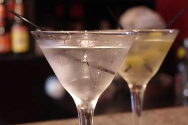 Two cocktails at Redemption