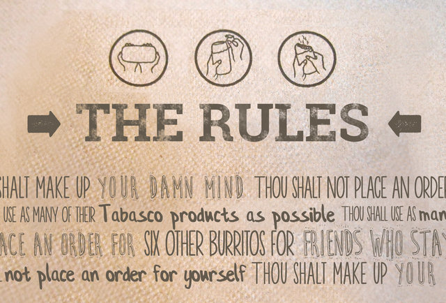 The Rules: Dining at Chipotle