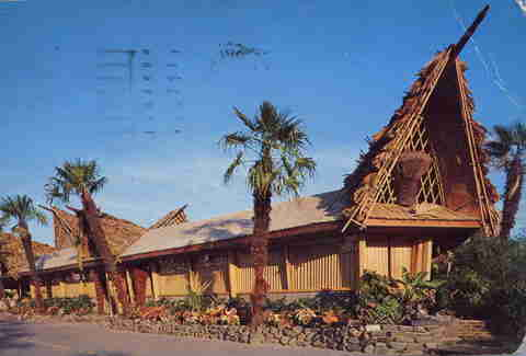 tiki bar postcard