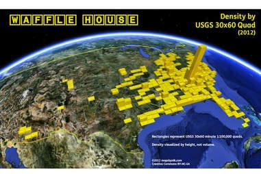 Waffle House density map