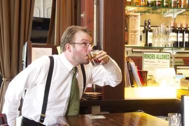waiter Drinking
