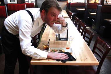 Waiter Eating