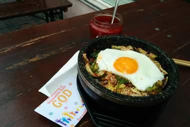 Fried egg dish at Ixthys