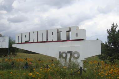 pripyat sign