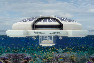 solar floating island