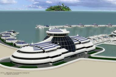 solar florating island