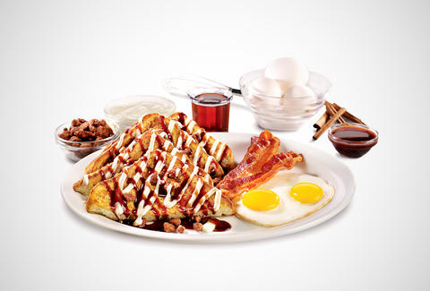 Denny's sticky bun French toast
