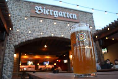 Glass Boot Biergarten Outdoor Drinking Guide DAL
