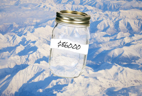 Mason jar of mountain air