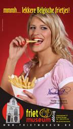 Nele Setners eatin a fry
