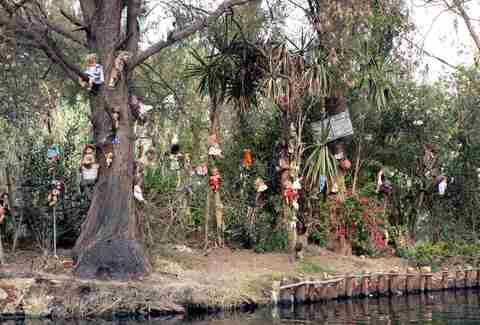 creepy dolls hanging