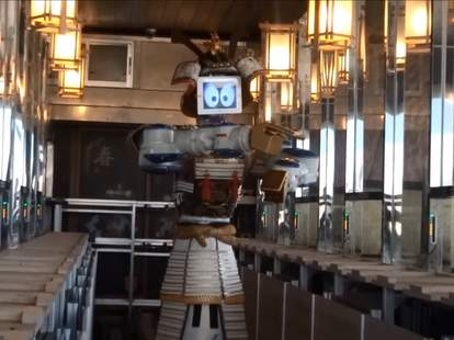 Samurai robot waiter