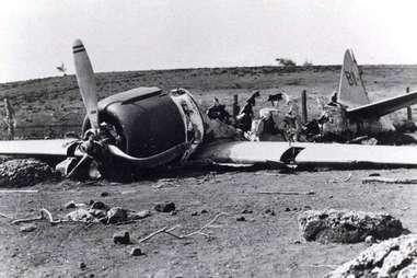 Zero fighter wreckage