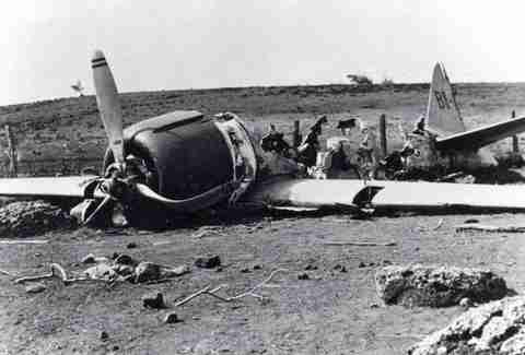 Zero fighter wreckage