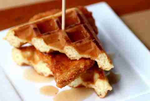SliderBar chicken and waffle slider