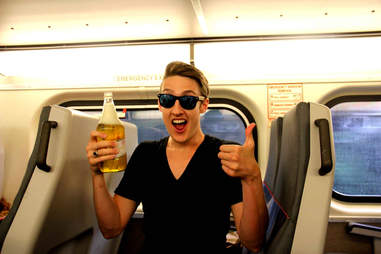 Train drinking