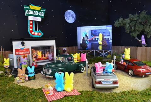 Peeps movie drive-in