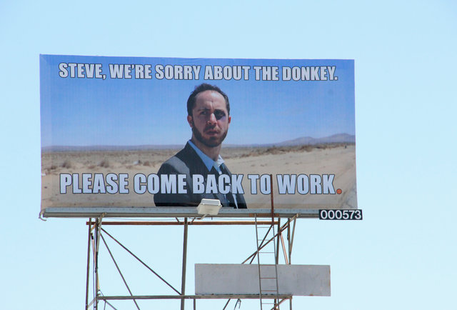 What\'s that donkey-and-Steve billboard on Highland? We\'ve got the answer.
